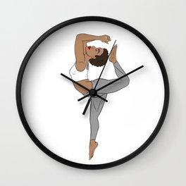 Quicksilver African Yogi Kemetic Yoga Pose Wall Clock