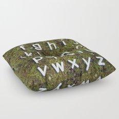 Alphabet Moss Poster Floor Pillow