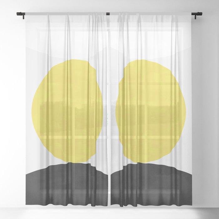 Solar Eclipse Sheer Curtain