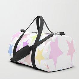 Pastel Stars Design Duffle Bag