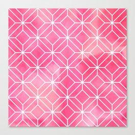 Geometric Crystals: Rose Petal Canvas Print