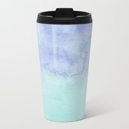 Watercolor Duo Aqua Purple Travel Mug