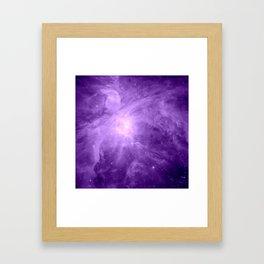 Orion NebuLA Purple Framed Art Print
