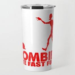zombies eat fast food Travel Mug