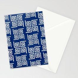 Deep Blue Bohemian Patterns Stationery Cards