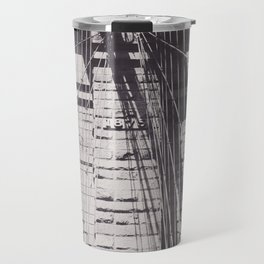 Brooklyn bridge details,  black & white architecture photography, new york city, NY,  city landscape Travel Mug