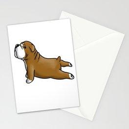 English Bulldog Yoga Stationery Cards