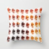 brown Throw Pillows featuring Brown by zAcheR-fineT