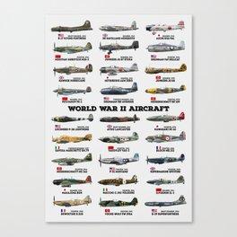 World War II Aircraft Canvas Print