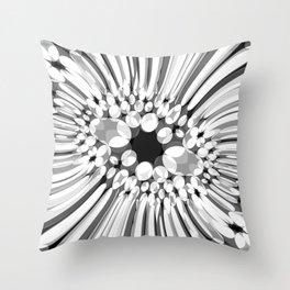 Hallucination flower B/W variant Throw Pillow