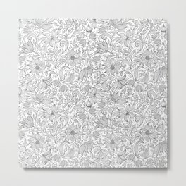 Bells Flower - BUTTERFLIES - CAMPANULA GRAY Metal Print