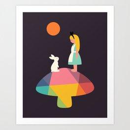 A Wonderful Trip Has Begun Art Print