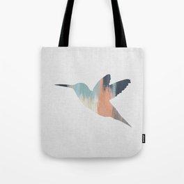 Pastel Hummingbird Tote Bag