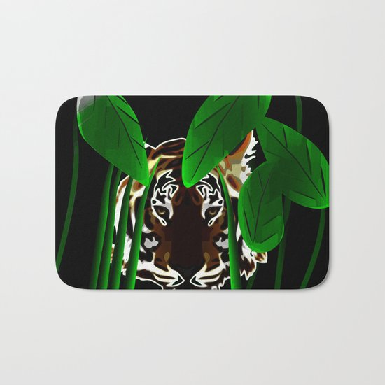 Tiger In the Night Bath Mat