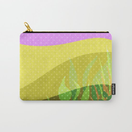 Multi-colored pattern . Tropics . Carry-All Pouch