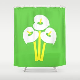 Calla Lily Bouquet (Green) Shower Curtain