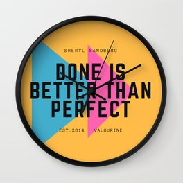 Sheryl Sandberg Done is Better Than Perfect Wall Clock