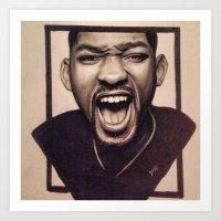 fresh prince Art Prints featuring Fresh Prince by JoelAnthonyArt