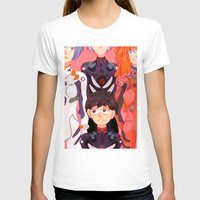 evangelion T-shirts featuring Evangelion Kids by minthues