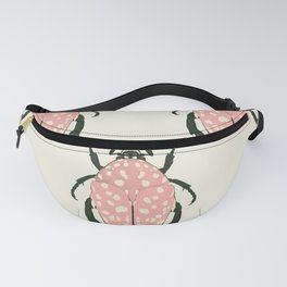 pink beetle insect Fanny Pack