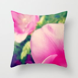 Timid Tulipa Throw Pillow
