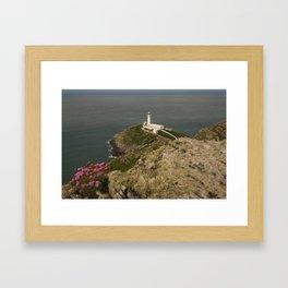 South Stack Lighthouse Framed Art Print