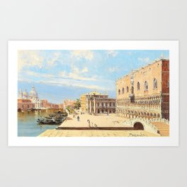 Antonietta Brandeis - The Ducal Palace, Venice - Digital Remastered Edition Art Print