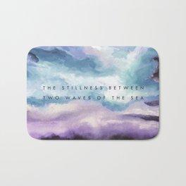 Stillness [Collaboration with Jacqueline Maldonado] Bath Mat