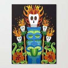Calavera Tikis Canvas Print