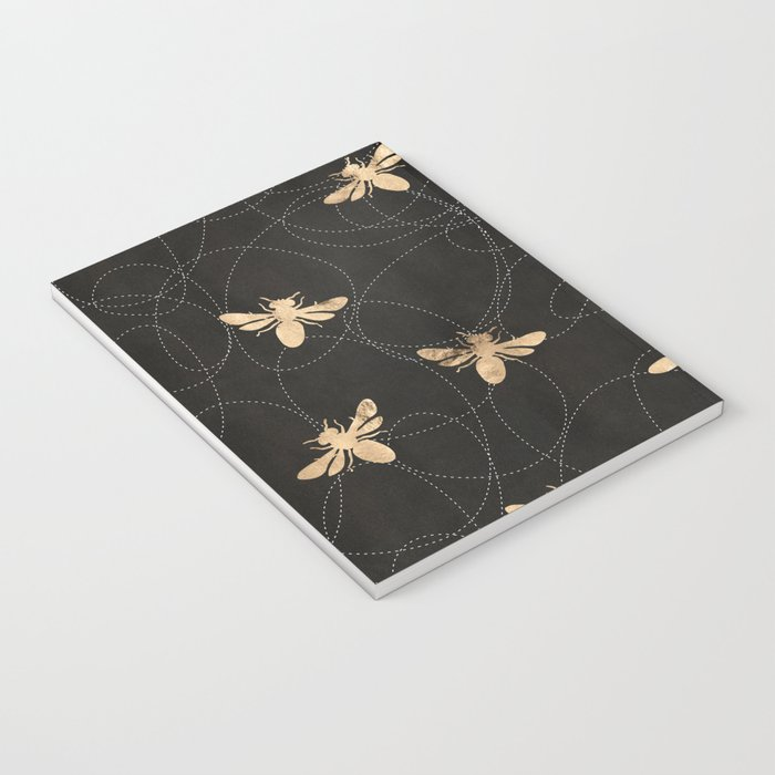 Busy Bees (Black) Notebook