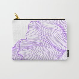 Sea waves line illustration Purple Modern Minimalist drawing. Carry-All Pouch