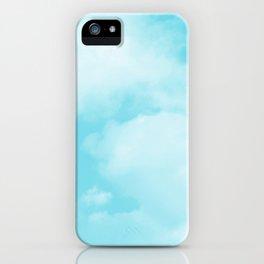 Aqua Blue Clouds iPhone Case