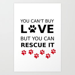 Loving animals Art Print