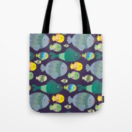 Fish pattern Tote Bag