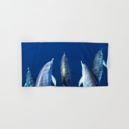 Playful and friendly dolphins Hand & Bath Towel