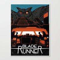 blade runner Canvas Prints featuring Blade Runner by Stephanie Shafer