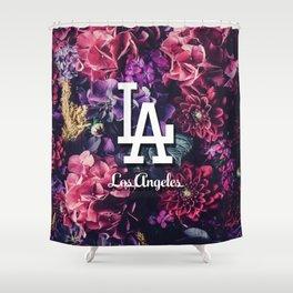 Los Angeles City Skyline Shower Curtain