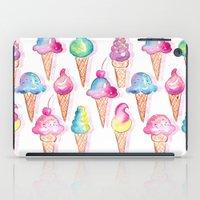 ice cream iPad Cases featuring Ice Cream by Sara Berrenson