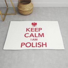KEEP CALM I AM POLISH Rug