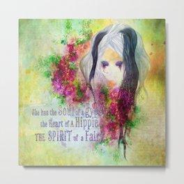 Gypsy Hippie Fairy Metal Print