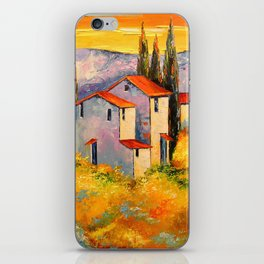 Settlement in the mountains iPhone Skin