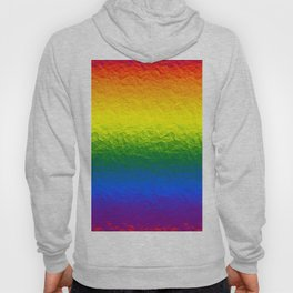 Rainbow Gradient Painted Pattern Hoody