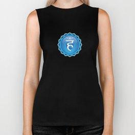 Throat Chakra Symbol Biker Tank