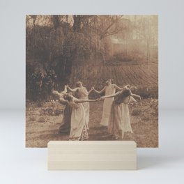 Circle of Witches, Vintage Photograph of Women Dancing Mini Art Print