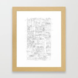 Vertical London Sketch Framed Art Print