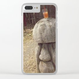 tall the alcoholic mushroom as company (1) #17 Clear iPhone Case