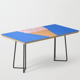Sweet Ice cream cone with blue background Coffee Table