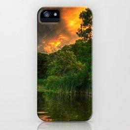 Sunset mammatus iPhone Case