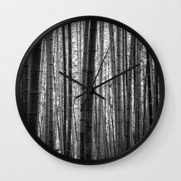 Bamboo Monochrome Wall Clock