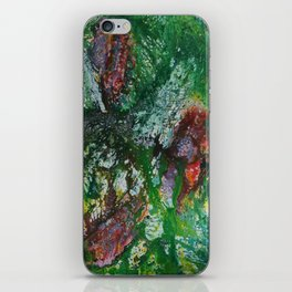 abstract jungle flowers iPhone Skin